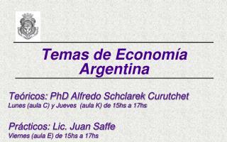 Temas de Economía Argentina