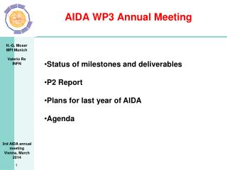AIDA WP3 Annual Meeting