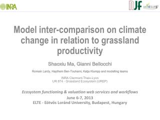 Model inter-comparison on climate change in relation to grassland productivity