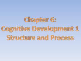 Chapter 6: Cognitive Development 1 Structure and Process