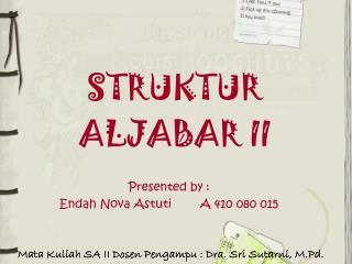 STRUKTUR ALJABAR II