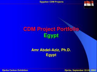 CDM Project Portfolio Egypt