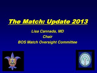 The Match: Update 2013