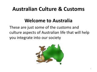 Australian Culture & Customs