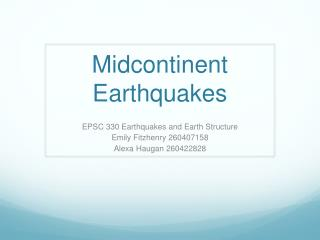 Midcontinent Earthquakes