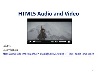 HTML5 Audio and Video