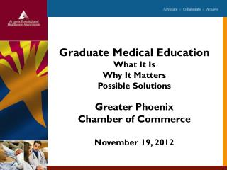Graduate Medical Education What It Is Why It Matters Possible Solutions