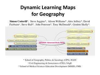 Dynamic Learning Maps  for  Geography