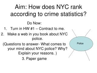 Aim: How does NYC rank according to crime statistics?