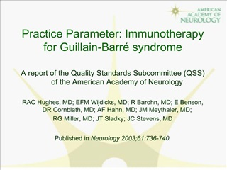 Practice Parameter: Immunotherapy for Guillain-Barr  syndrome