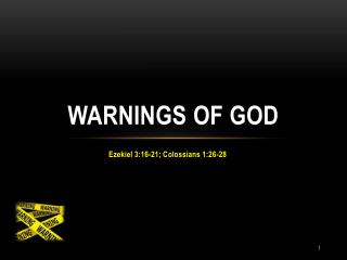 Warnings of God