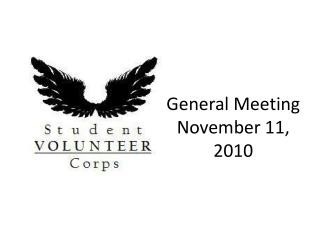 General Meeting November 11, 2010