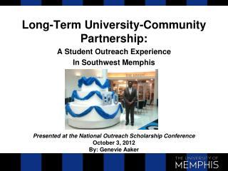 Long-Term University-Community Partnership: