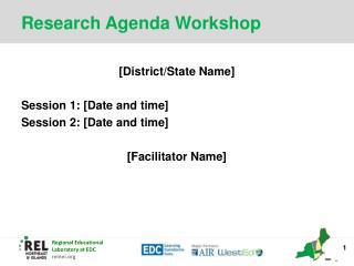 Research Agenda Workshop