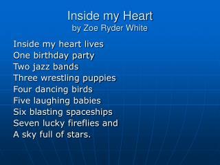Inside my Heart by Zoe Ryder White