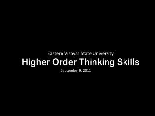 how to assess higher order thinking skills in the classroom