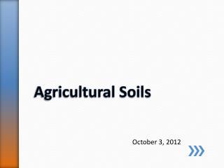 Agricultural Soils