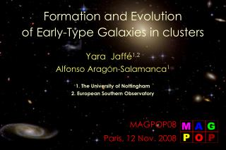 Formation and Evolution  of Early-Type Galaxies in clusters