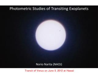 Photometric Studies of Transiting  Exoplanets