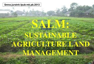 SALM: SUSTAINABLE AGRICULTURE LAND MANAGEMENT