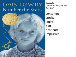 Vocabulary Chapter 1: �Why are you Running� contempt stocky lanky plot obstinate impassive