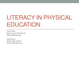 Literacy in Physical Education