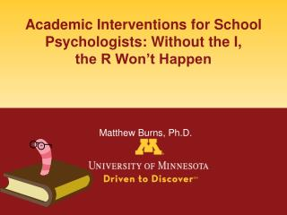 Interventions for Children with LD