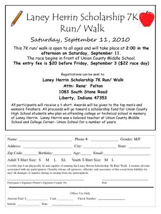 Laney Herrin Scholarship 7K Run/ Walk