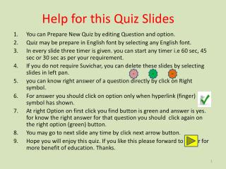 Help for this Quiz Slides