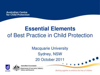 Essential Elements of Best Practice in Child Protection
