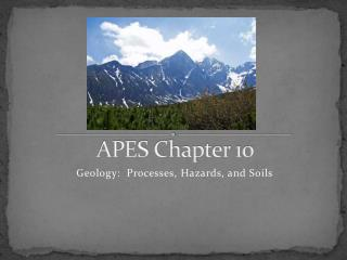 APES Chapter 10