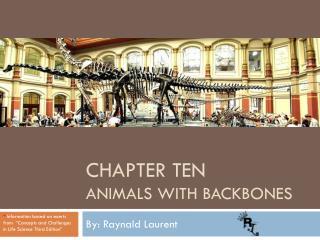 Chapter ten Animals  With Backbones