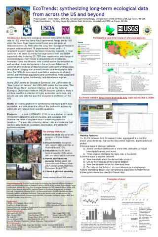 EcoTrends: synthesizing long-term ecological data from across the US and beyond