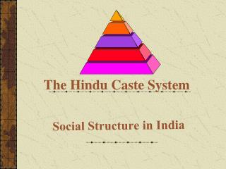 The Hindu Caste System