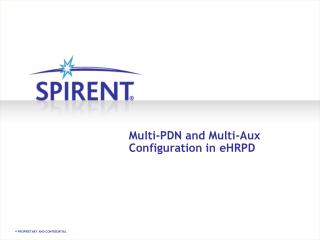 Multi-PDN and Multi-Aux Configuration in  eHRPD