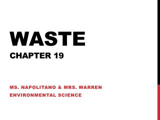 Waste Chapter 19