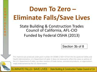 Down To Zero  ? Eliminate Falls/Save Lives