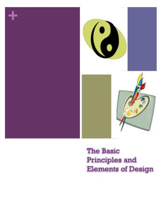 The Basic Principles and Elements of Design