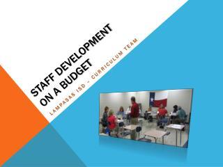 Staff Development  on a Budget