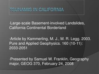 Tsunamis in California