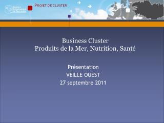 Présentation VEILLE OUEST 27 septembre 2011