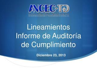 Lineamientos I nforme de Auditor�a de Cumplimiento