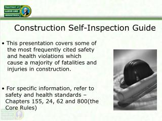 Construction Self-Inspection Guide
