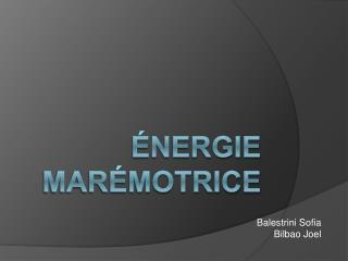 Énergie Marémotrice