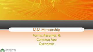MSA Mentorship