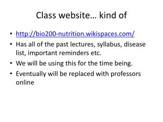 Class website… kind of
