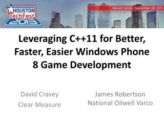 Leveraging C++11 for Better, Faster, Easier Windows Phone 8 Game Development