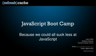 JavaScript Boot Camp