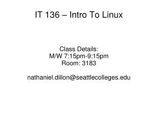IT 136 – Intro To Linux