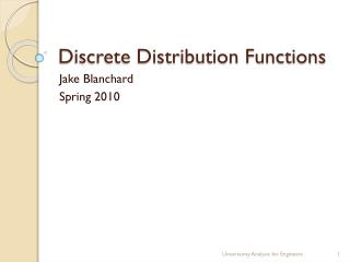 Discrete Distribution Functions